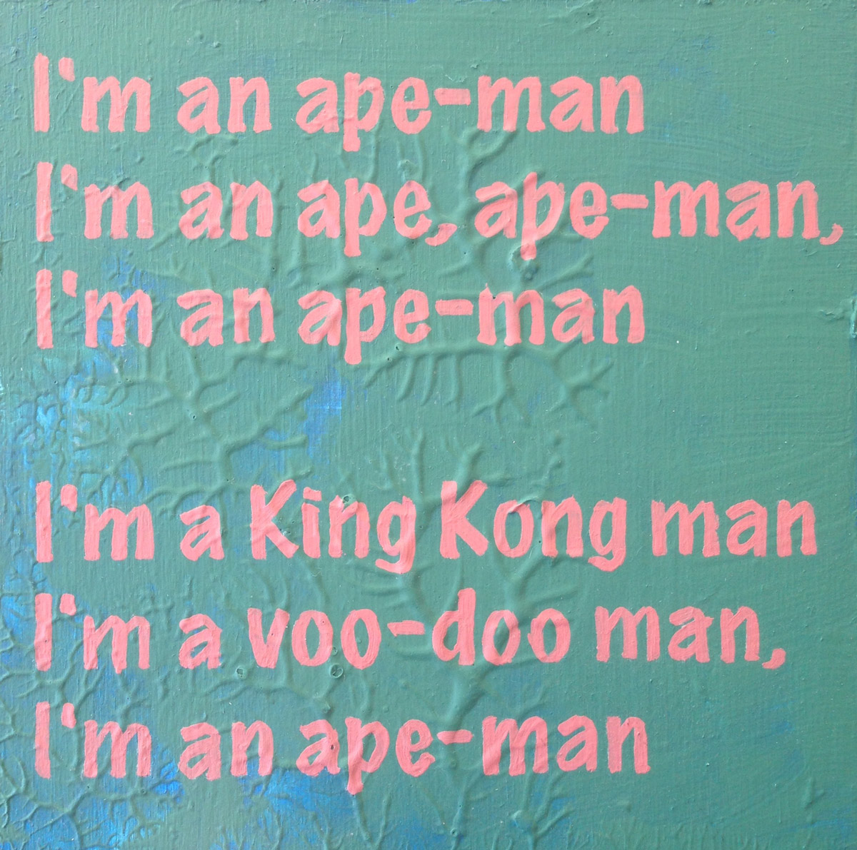 Boyd Richard, painting, i'm an ape man