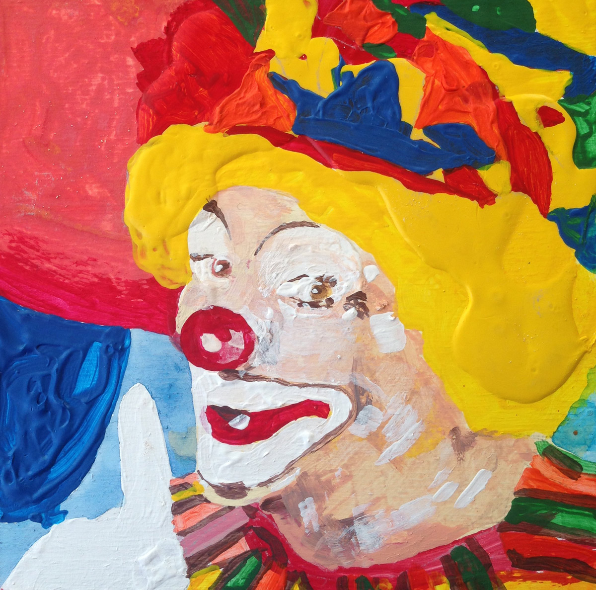 Boyd Richard, painting, clown
